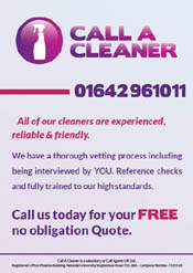 Call A Cleaner Leaflet Design