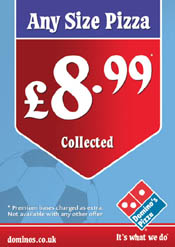 Dominos Pizza A6 Flyer